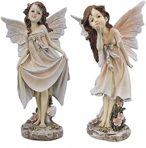 Design Toscano Wildflower Meadows Fairies Garden Statues: Set of Two