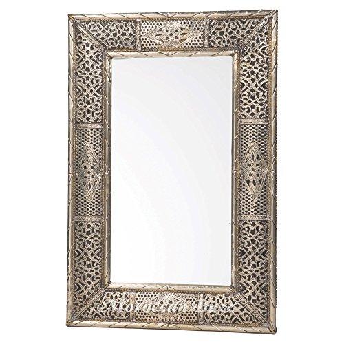 24 Inch Handmade Moroccan Metalwork Mirror