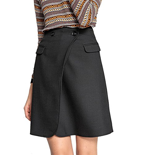 La Redoute Collections Womens Wrapover Skirt Black Size US 8 - La Redoute Skirt