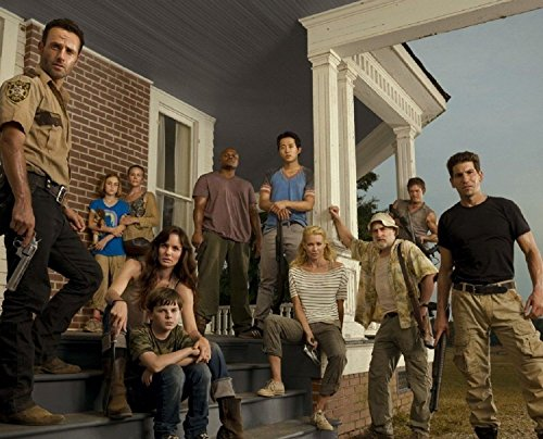 Metal Tin Sign 8x10 From A Photo Or Poster The Walking Dead Full Cast With A Miror (Walking Tin)