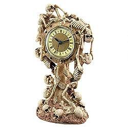 Design Toscano Skeleton Crew Sculptural Mantle Clock, Full Color