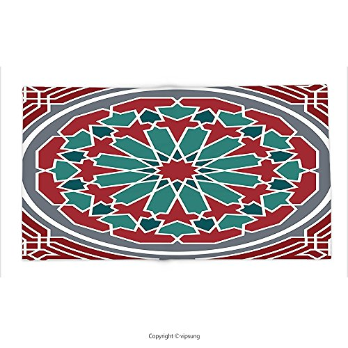 Custom printed Throw Blanket with Arabian Decor Collection Elegant Islamic Original Old Style Ornate Persian Pattern with Victorian Artsy Touch Red Grey Super soft and Cozy Fleece Blanket by vipsung