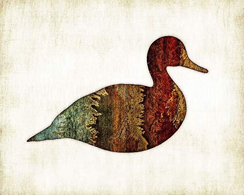 Duck Watercolor Nature Art Print by Artist Dan (Hunter Dan Duck)