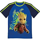 Marvel Boys' Guardians of Galaxy Glow in the Dark Groot T-Shirt