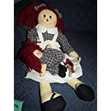 Raggedy Ann Cloth Doll with Baby 18In