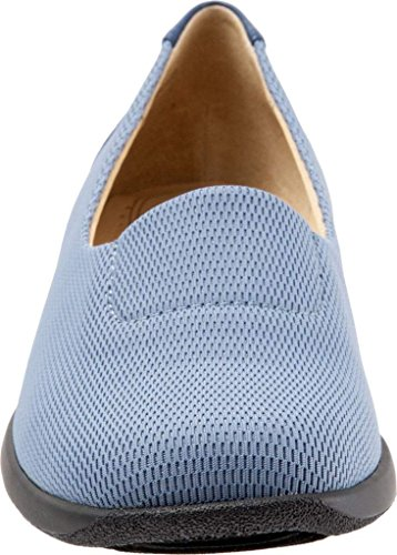 fashionable online Trotters Women's Jake Flat Light Blue Stretch Fabric pre order cheap price discount nicekicks recommend online CvtSjZ