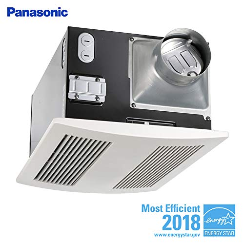 Panasonic FV-11VH2 WhisperWarm Fan/Heater Combination, Ventilation Fan, Extremely Quiet, Long Lasting, Easy to Install, Code Compliant, Energy Star Certified, White (Room Enclosed Ideas Outdoor)