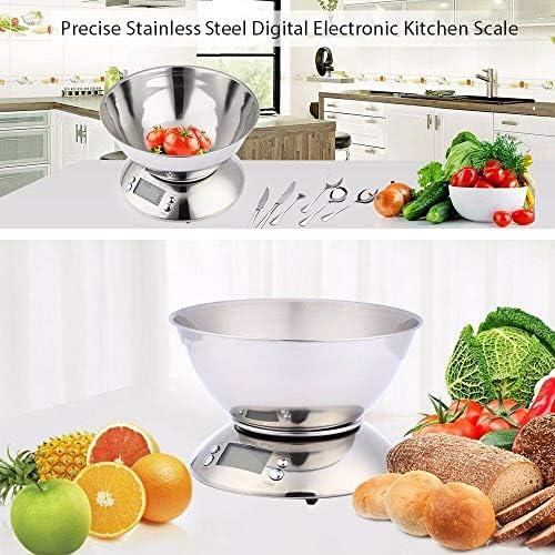 Bilancia da cucina Bilance da cucina digitali, Bilance in acciaio inossidabile Funzione di tara, Display LCD, Sensore di temperatura, Allarme timer