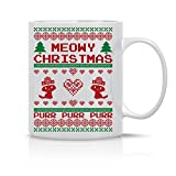 Meowy Christmas - Purr Purr Purr - Funny Cat Lover Christmas Mug - 11OZ Coffee Mug - Perfect Gift for Xmas - Mugs For this Holiday Season - Funny Cat Coffee Mug -Crazy Bros Mugs