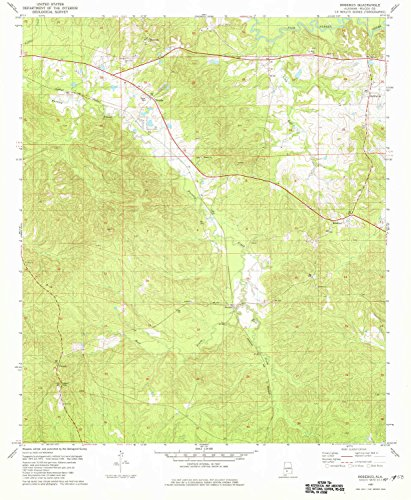 YellowMaps Rosebud AL topo map, 1:24000 Scale, 7.5 X 7.5 Minute, Historical, 1981, Updated 1981, 26.7 x 22 in - Paper ()