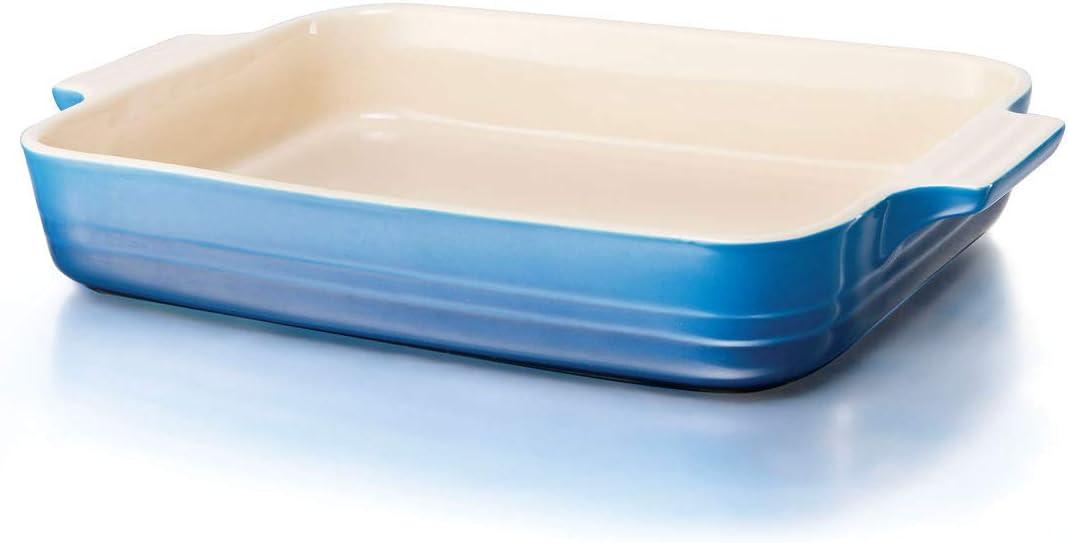 Blau F/ür 4 Portionen 17 x 26 cm Steinzeug Le Creuset Rechteckige Auflaufform