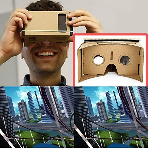 Liobaba DIY Cardboard 3D VR Virtual Reality Glasses for Smartphone DIY Magnet Google Cardboards Glasses by Liobaba (Image #1)