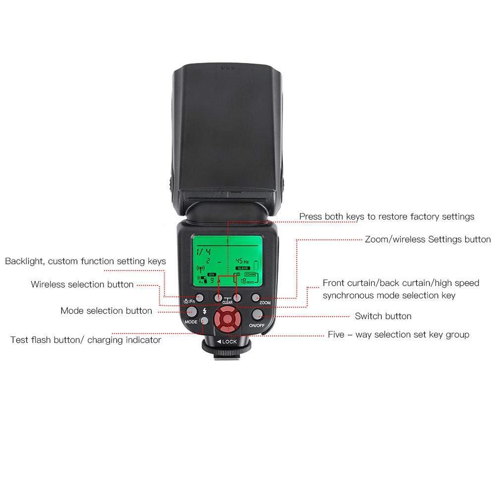 Profesional 2.4G 1//8000 Wireless TTL//M//Mult Master//Slave Camera Flash Light para Canon SLR Camera TR-982III S1 C Flash Speedlite S2