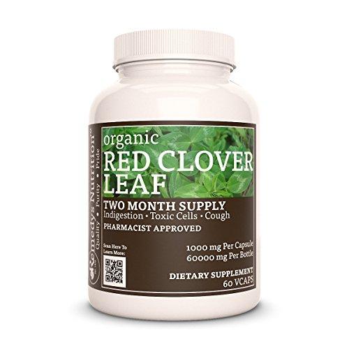 Red Clover Leaf (Trifolium pratense) Remedys Nutrition Organic Vegetarian, Organic 1000 mg per capsule/ 60.000 mg per bottle Mega Strength Trifolium Pratense