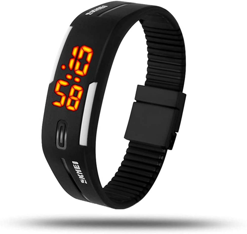 eYotto Fashion Digital Watch Waterproof Minimalist Sports Wrist Watch Rubber Bracelet Watches for Boys Girls Men Womens