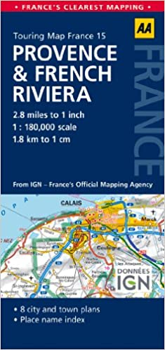 Road Map Provence French Riviera Road Map France AA Publishing