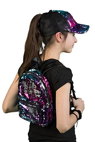 Price comparison product image SQ1-4101-MB Sequin Pony Cap Backpack Bundle - Mini (Multi)
