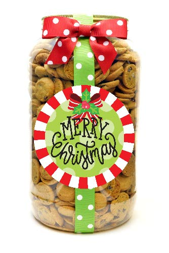 Nam's Bits Chocolate Chip Cookies Gallon – Merry Christmas Holly Bow (MCH)