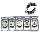 Wholesale 10 boxes/lot 100% Real Mink Hair Messy Cross False Eyelashes 3D Wispy Fake Eye Lashes MY-014