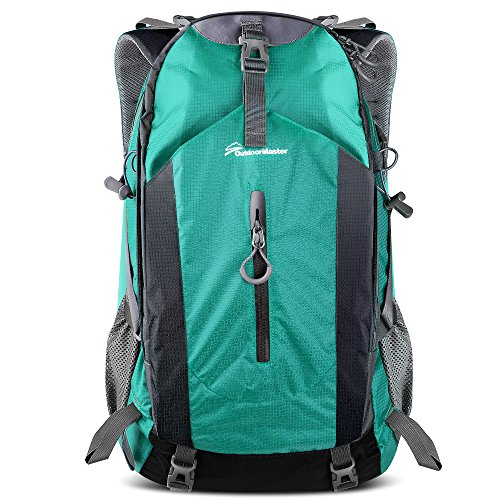(OutdoorMaster Hiking Backpack 50L - Hiking & Travel Carry-On Backpack w/Waterproof Rain Cover - for Hiking, Traveling & Camping - Light Green )