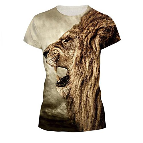 GERGER BO Women's 3D Printing Leisure Sports Short Sleeve T-shirt£¨188 S£