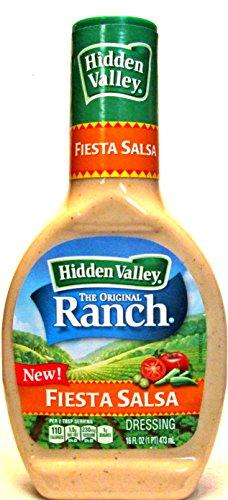 Hidden Valley Fiesta Salsa Dressing (Pack of 3) 16 oz Bottles