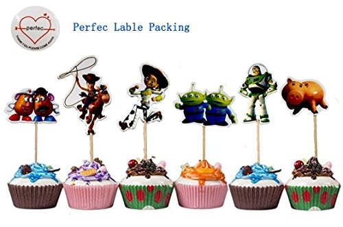 Toy Story Themed Decorative Cupcake Toppers Party Pack for 24 Cupcakes for $<!--$6.99-->