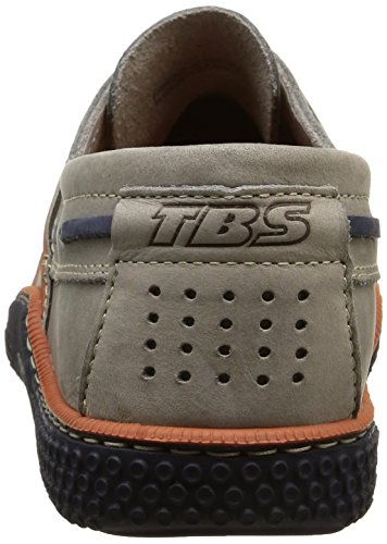 TBS - Mocasines de cuero para hombre Gris (Gris Encre)