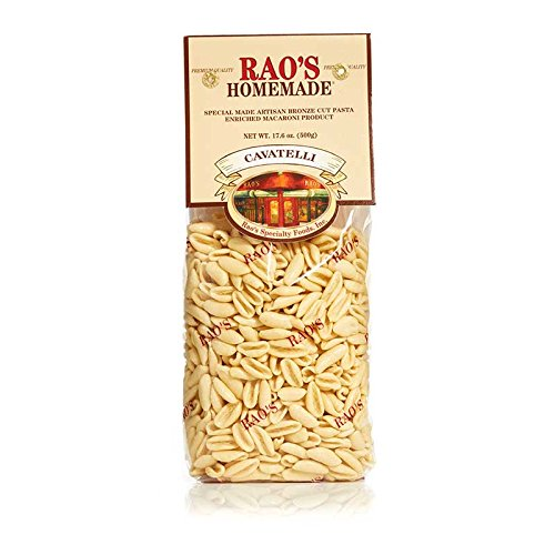 Rao's Homemade Cavatelli Pasta, 17.6 Oz Bag, 1 Pack, Artisanal Fresh Dried Italian Pasta, Classic Small Shell Pasta from Durum Wheat Semolina Flour, Imported from Italy, A Traditional Family Favorite