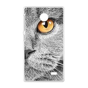 Gray Cute Cat White Phone Case for Nokia Lumia X
