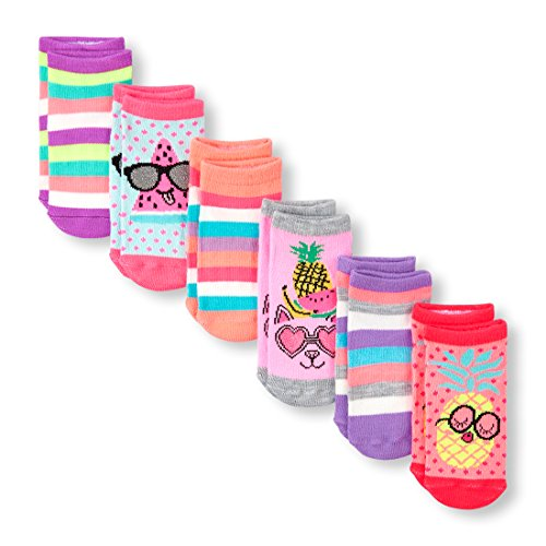- The Children's Place Baby Girls 6 Pack Ankle Socks, Multi CLR 01451, 6-12MONTHS