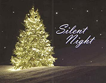 religious christmas cards set of 16 cards and envelopes silent night christmas tree