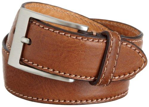[Trafalgar Mens Brandon Belt, Brown, 34] (Brown Calfskin Belt)
