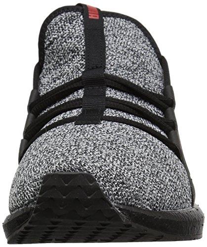 PUMA Mens Mega Nrgy Knit Sneaker Puma Black-puma White-flame Scarlet 53LRL190