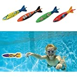 Edealing Set Of 4Pcs Toypedo Bandits Swimming Pool Diving Game Summer