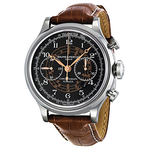Baume-Mercier-Mens-MOA10068-Automatic-Stainless-Steel-Black-Dial-Chronograph-Watch
