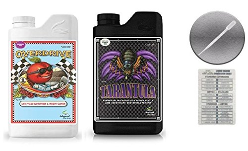 Advanced Nutrients Overdrive and Tarantula 500 ml Bundle with Conversion Chart and 3ml Pipette
