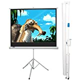 Maxstar Screens 84'' Tripod Portable Projection Screen, 4:3 Aspect Ratio-diagonal 84in (Matt White)