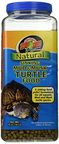 Zoo Med Natural Sinking Mud and Musk Turtle Food, 20 Ounce - Turtle Aquatic Hatchling