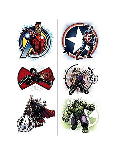Avengers Temporary Tattoos (2 Pack)