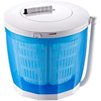 Portable Clothes Washer, Hand Cranked Manual Clothes Non-Electric Washing Machine and Spin Dryer, Counter Top Washer…