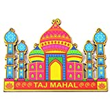 Skywalk India Souvenir Wooden Fridge Magnet Taj Mahal