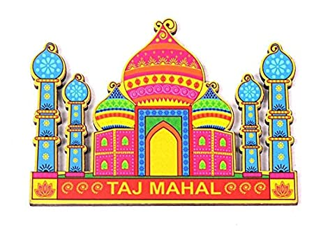 Skywalk India Souvenir Wooden Fridge Magnet Taj Mahal Magnets (Home & Kitchen) at amazon