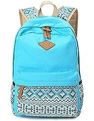 Casual Lightweight Canvas Backpacks Shoulder Bag School Backpack for Teen Girls