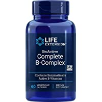 Life Extension Complete B-Complex Vegetarian Capsules, 60 Count