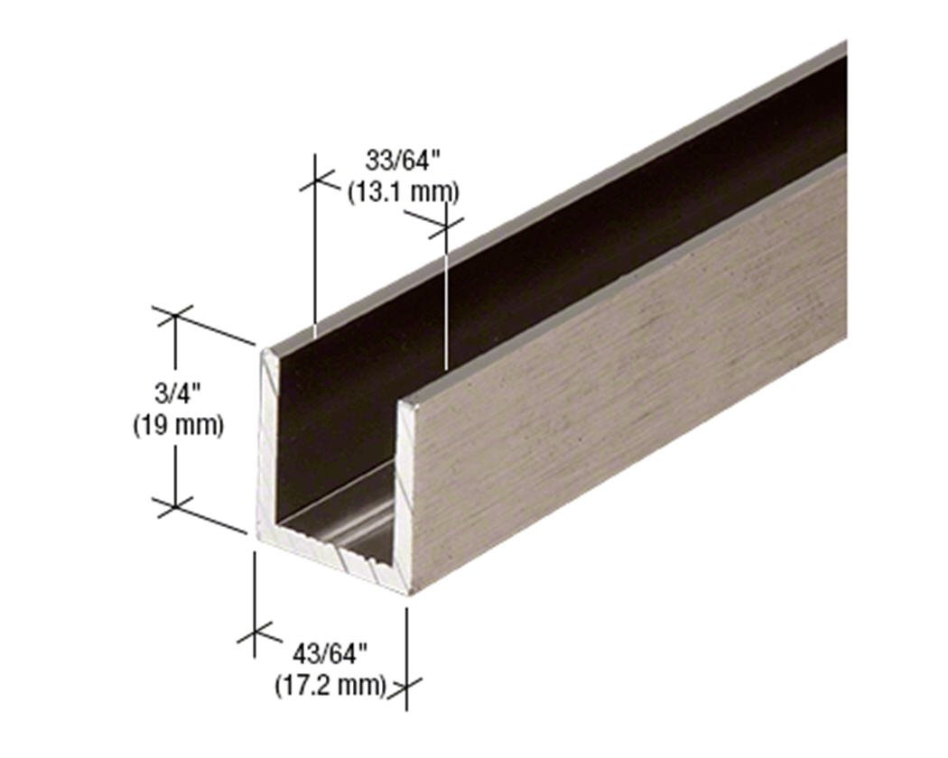Crl Brushed Nickel 12 Fixed Panel Shower Door Deep U Channel 12