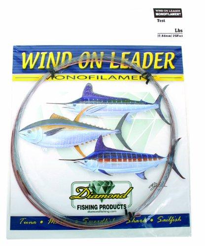 Momoi Diamond Wind On Leader, 130-Pound 25-Feet, Smoke Blue