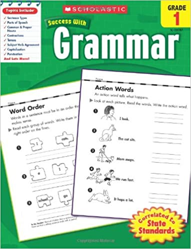 Workbook first grade worksheets pdf : Amazon.com: Scholastic Success With Grammar, Grade 1 (Scholastic ...