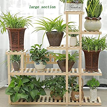 HBY Estante tridimensional de plantas de cuatro plantas, superior ...