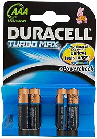 Duracell Turbo MAX batería no-Recargable Alcalino 1,5 V: Amazon.es: Electrónica